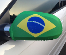 Brazil Car Mirror Flag