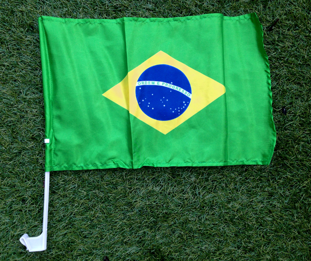 Brazil Car Window Flag