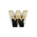 Gold Letter 'W'