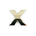 Gold  Letter 'X'