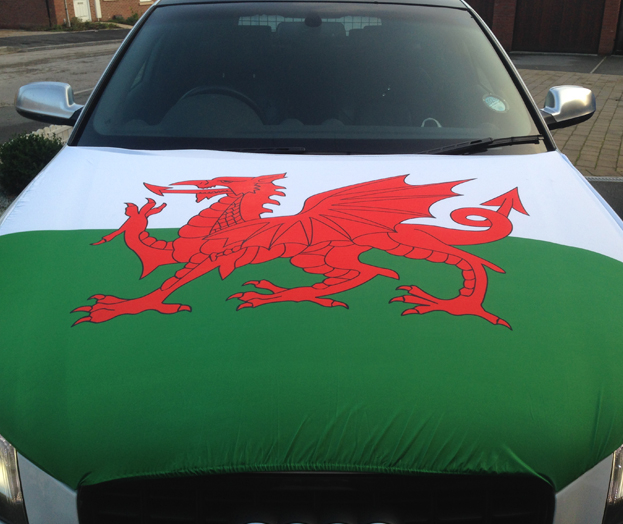Wales Car Bonnet Flag