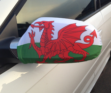 Wales Car Mirror Flag
