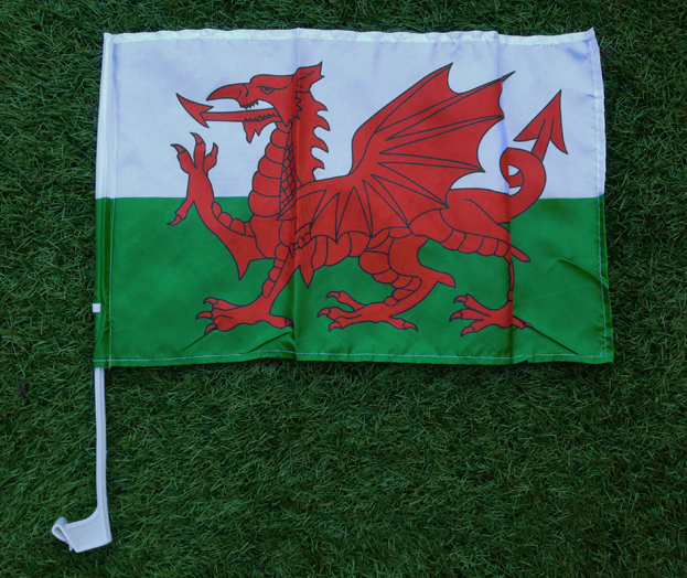 Wales Car Window Flag