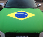 Brazil Car Bonnet Flag